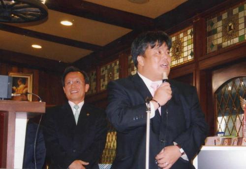2009.11.12 府会議員今井豊後援会ゴルフコンペにて挨拶をさせていただきました。
