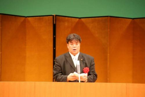 2010.11.3 貝塚市文化祭にて祝辞を述べる