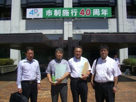 2011.8.26 千葉県君津市にて「文化のまちづくり市税1%事業」についてレクチャーをうけました
