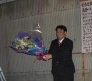 2011.4.22 1975票獲得で見事当選ご支援に感謝します(南野)