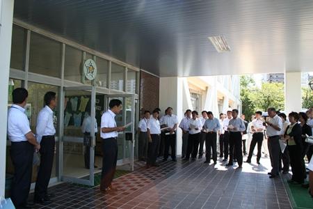 2012.9.25  南小学校耐震工事視察