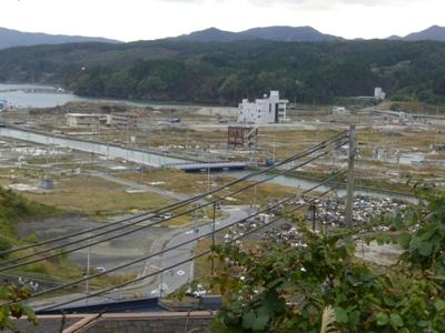 2012.10.24  高台より撮影 宮城県南三陸町