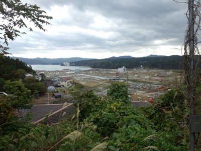 2012.10.24  ボタンティア時余震により緊急避難した高台です 宮城県南三陸町高台より