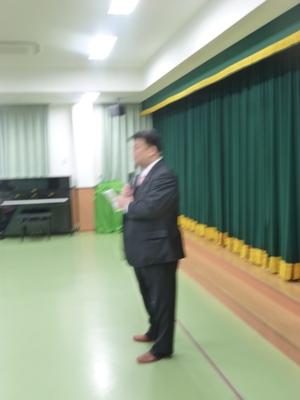 2013.2.16  ひがし保育園生活発表会にて理事会を代表してあいさつをさせていただきました。