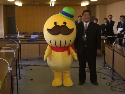 2013.3.27  貝塚市イメージキャラクター「つげさん」と