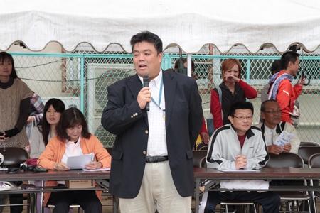 2013.10.19  ひがし保育園運動会にて挨拶を行いました