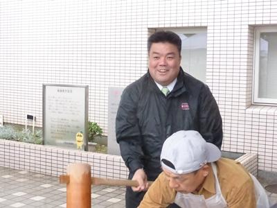2013.12.18  貝塚市社会福祉協議会餅つきに参加