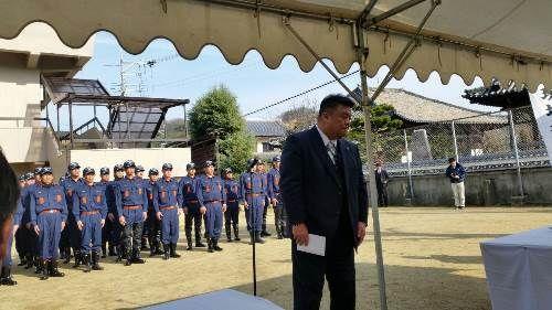 2015.1.25 貝塚市文化財防災訓練にて祝辞を述べさせていただきました。