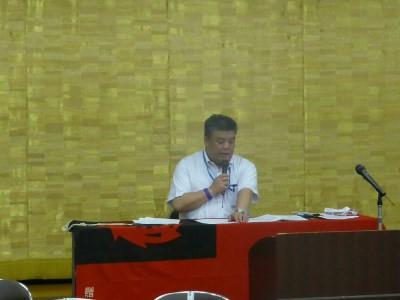 2017.6.23 所属する団体の定期大会で議長を務める南野市議