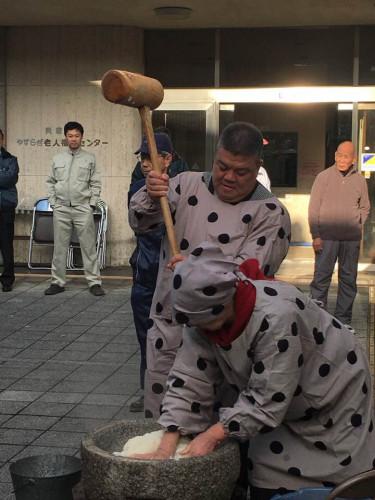 2017.12.15 やすらぎ老人福祉センター餅つき大会に参加
