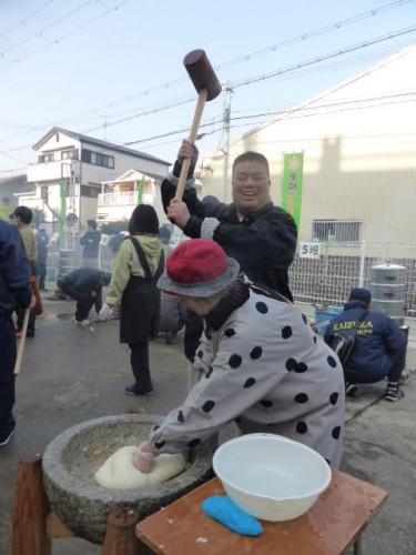2018.1.20 東小学校子ども広場餅つき大会