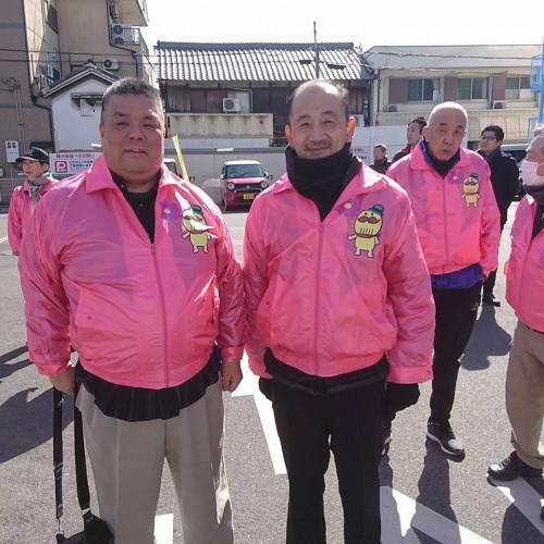 2018.2.18 KIX泉州マラソン 貝塚市内で応援