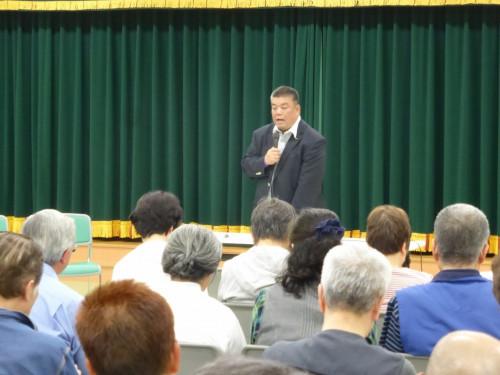 2018.5.22 ひがし保育園をお借りして市政報告会を開催