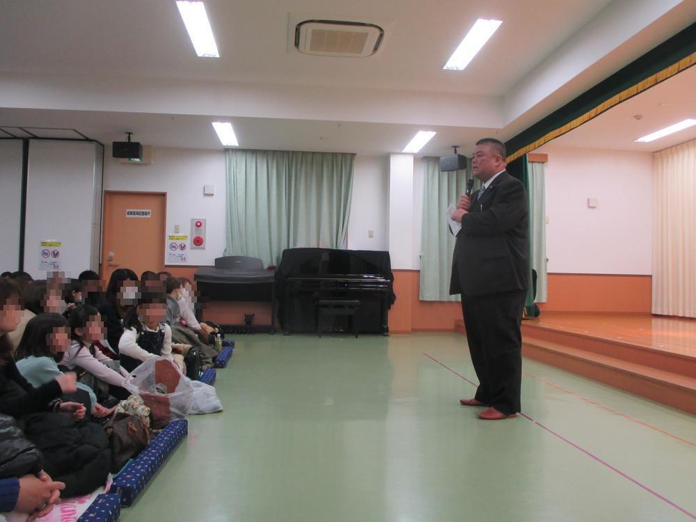 2019.2.16 ひがし保育園生活発表会にて理事会を代表しての挨拶