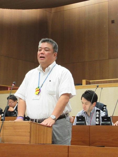 2019.6.17 令和元年第2回定例会一般質問を行う南野市議