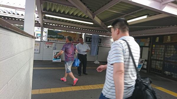南海貝塚駅東口にて朝のごあいさつ 2019.7.10