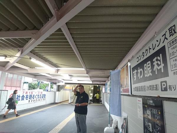 南海貝塚駅での朝のご挨拶 2019.7.19