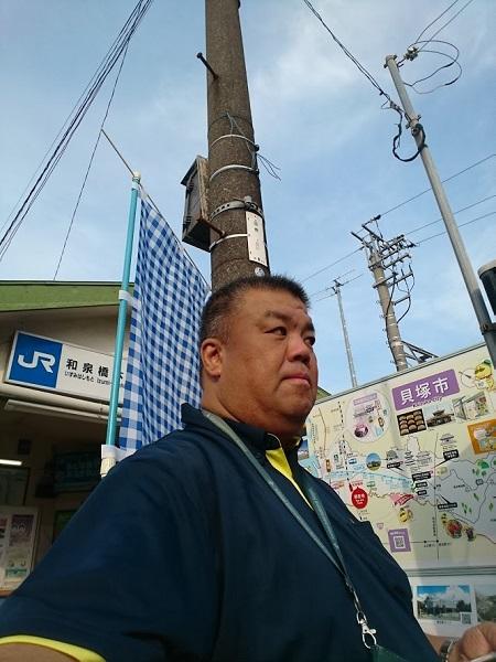 JR和泉橋本駅にて朝のご挨拶 2019.7.8