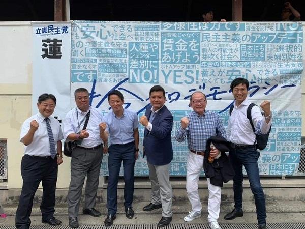 泉北高速光明池駅前にて街頭行動2 2017.7.13
