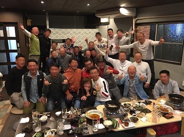 2019.11.30 麻生郷だんじり祭りに携わる同級生の会「らいおんず」忘年会に参加
