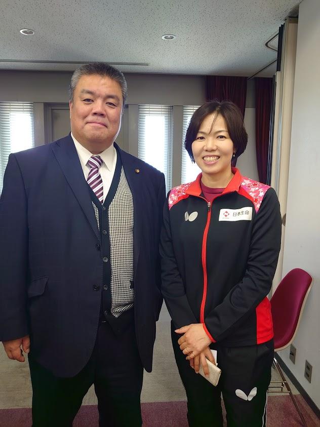 2020.1.6 卓球日本生命レッドエルフ岸田監督と