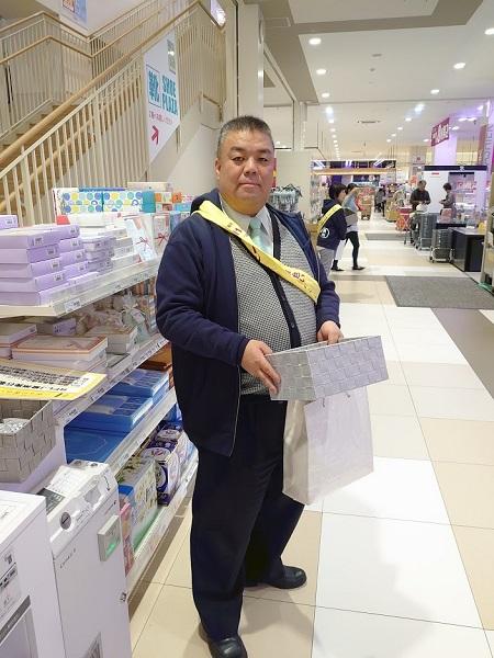 2019.12.11 イオン貝塚店にて幸せの黄色いレシートキャンペンに取り組む
