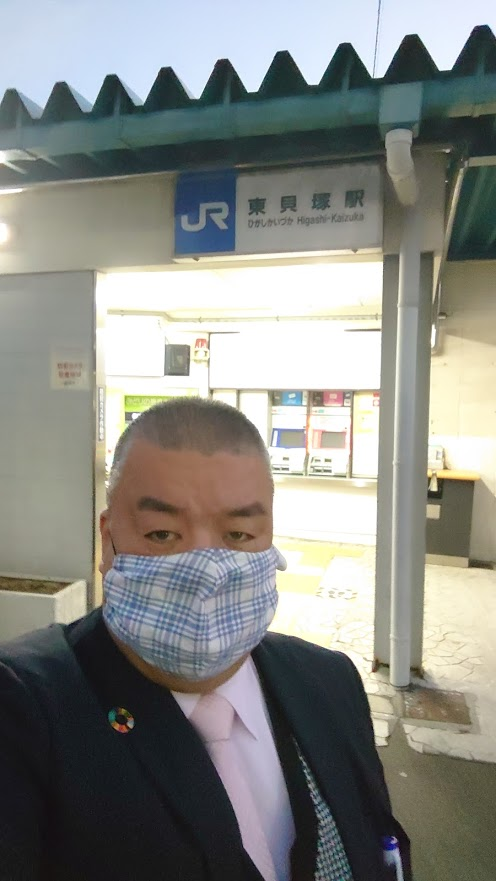 2020.11.26 JR東貝塚駅にて朝のご挨拶