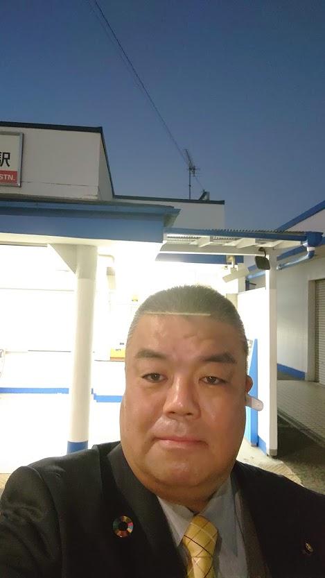 2020.12.3 南海二色の浜駅にて朝のごあいさつ