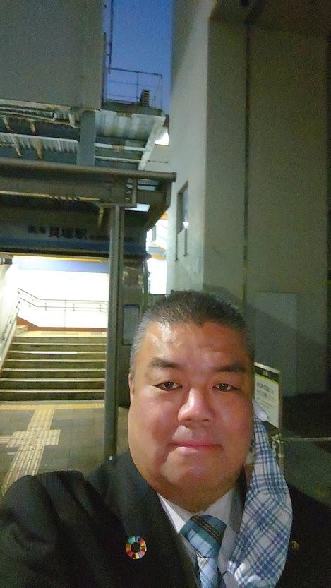 2020.12.8 南海貝塚駅西口にて朝のごあいさつ