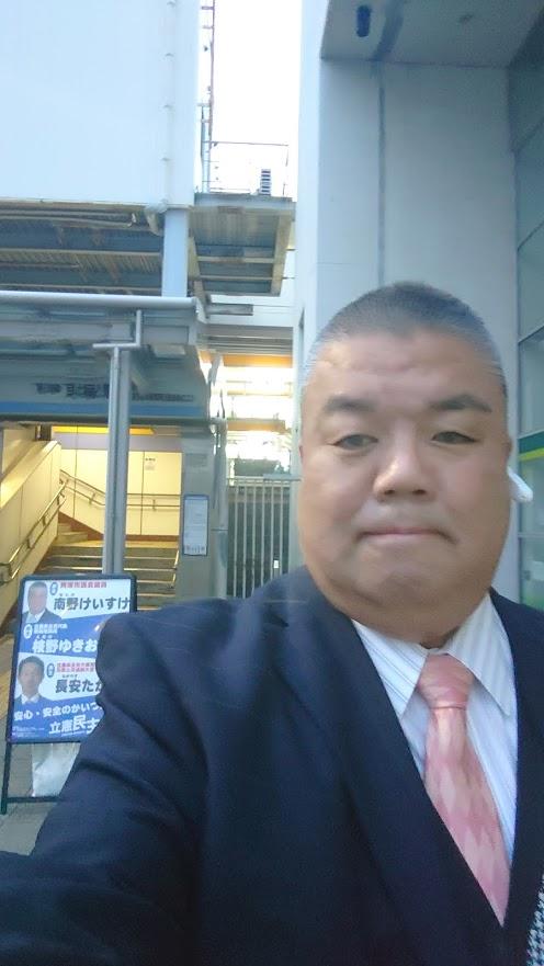 2021.3.16 南海貝塚駅西口南側で朝のご挨拶