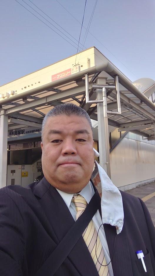 2021.4.20 南海貝塚駅西口北側で朝のご挨拶