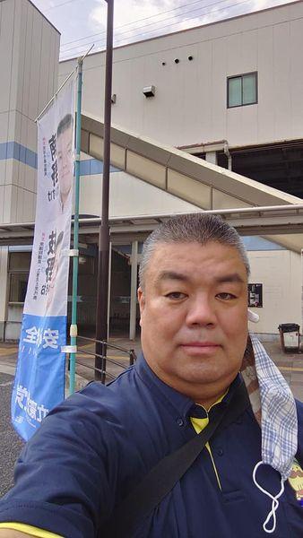 2021.6.22 南海貝塚駅西口南側で朝のご挨拶